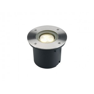 SLV 227432 Wetsy Power LED warmwit edelstaal rond grondspot buiten