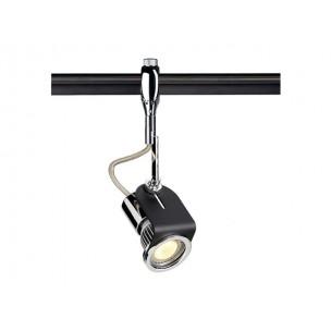 SLV 185712 Raka Spot chroom / zwart Easytec II chroom railverlichting