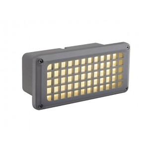 SLV 230482 Brick Mesh LED warmwit zilvergrijs wand inbouwspot