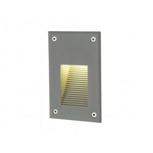 SLV 229722 Brick LED Downunder verticaal zilvergrijs wand inbouwspot