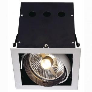 SLV 115104 Aixlight Pro 1 Frame QRB111 zilvergrijs inbouwspot