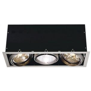 SLV 115124 Aixlight Pro 3 Frame QRB111 zilvergrijs inbouwspot