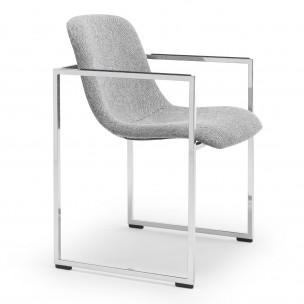 arc frame 2 remix2duo 163 123 Arco Frame II stoel remix duo stoffering grijs parelchroom onderstel