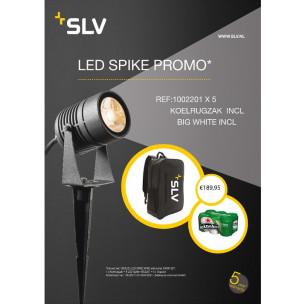 Promo 5 stuks SLV 1002201 led spike antraciet 1xled 3000k