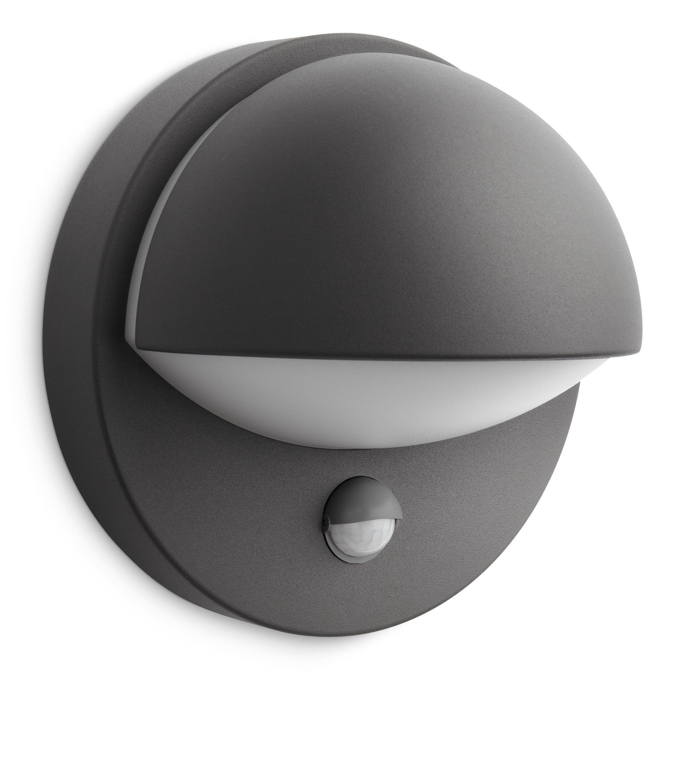 philips june 162469316 antraciet sensor wandlamp. Black Bedroom Furniture Sets. Home Design Ideas