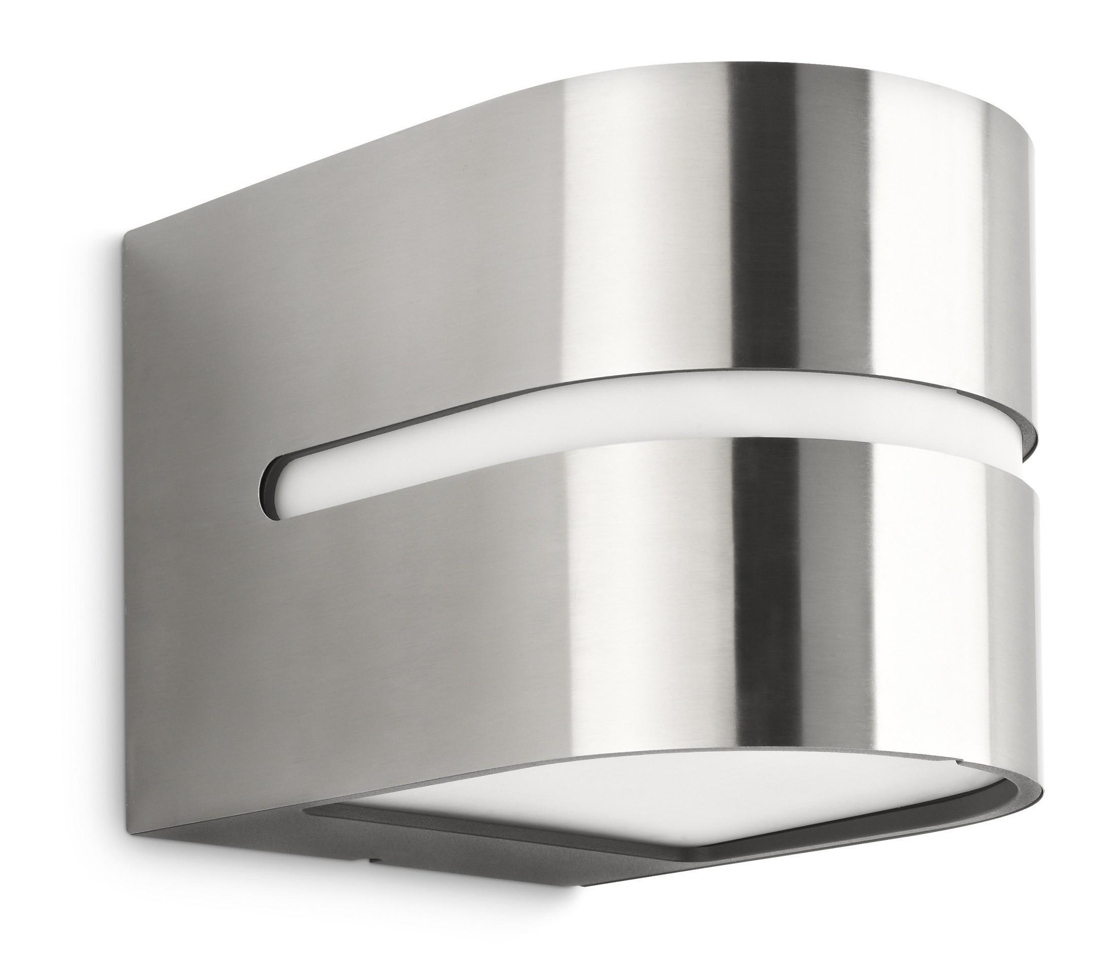 Philips hazel 169284716 rvs ecomoods outdoor wandlamp for Catalogue philips eclairage exterieur