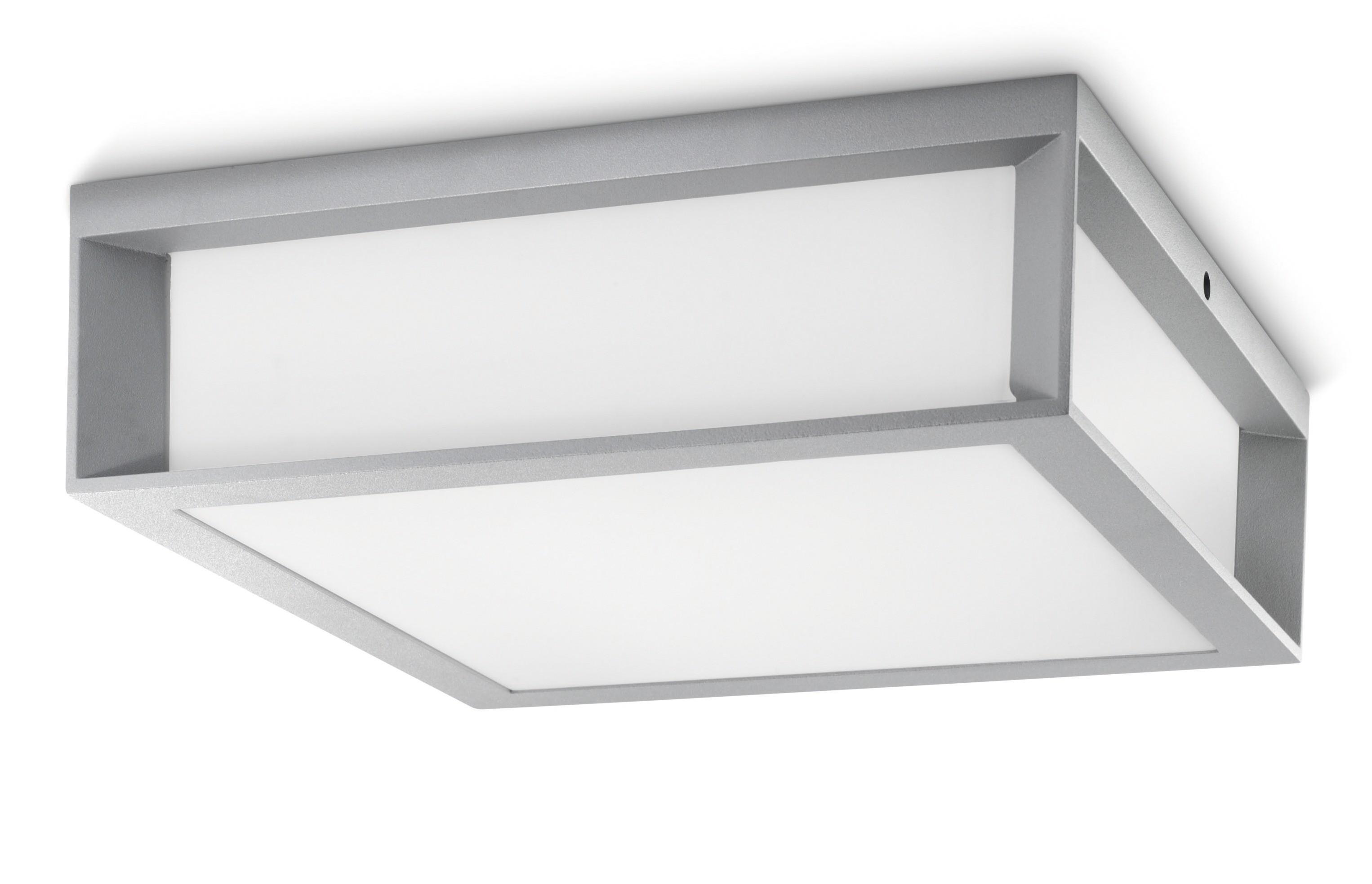 Philips skies 171848716 zilvergrijs ecomoods outdoor wand plafondlamp - Gloeilamp tizio lamp ...