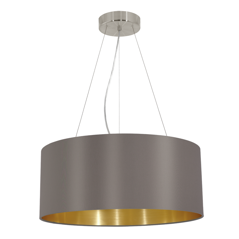 31608 eglo maserlo cappucino goud hanglamp. Black Bedroom Furniture Sets. Home Design Ideas