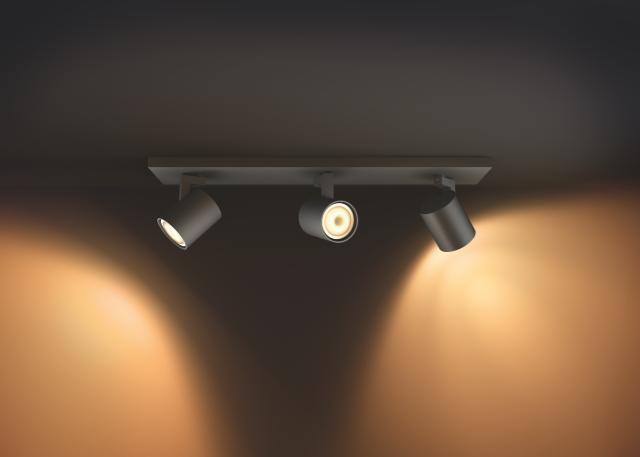 5309330p7 philips runner hue zwart 3 lichts plafondspot 8718696159361. Black Bedroom Furniture Sets. Home Design Ideas
