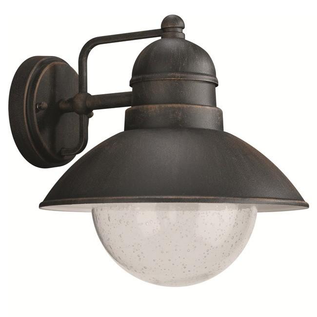 Massive Damascus 172378610 roest wandlamp buiten - Lampen Online.com
