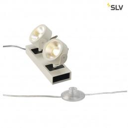 SLV 1000126 kalu led 2 floor wit/zwart 2xled 3000k 24°
