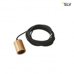 SLV 1000582 fitu e27 bamboe licht 1xe27, incl. 5m kabel