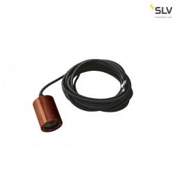 SLV 1000584 fitu e27 bamboe donker 1xe27, incl. 5m kabel