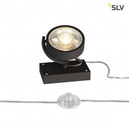 SLV 1000722 kalu 1 floor zwart 1xgu10