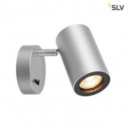 SLV 1000732 enola_b zil.grijs/zwart 1xgu10, met schakelaar