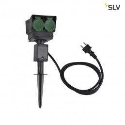 SLV 1000868 tuinstopcontact 4-voudig duits 1,5m kabel