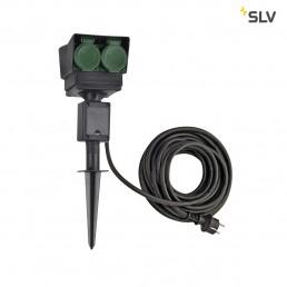SLV 1000874 tuinstopcontact 4-voudig duits 10m kabel