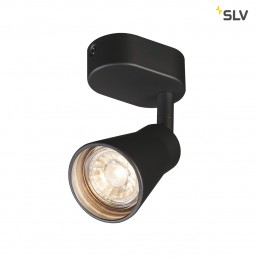 SLV 1000886 avo wandlamp single zwart 1xgu10