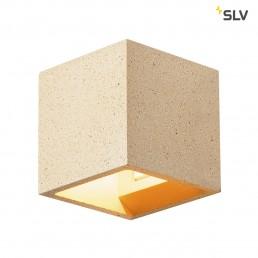 SLV 1000912 solid cube geel zandsteen 1xg9