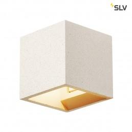 Actie SLV 1000913 solid cube wit zandsteen 1xg9