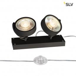 SLV 1000923 kalu 2 floor zwart 2xgu10