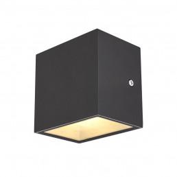 SLV 1002032 sitra cube wandlamp antraciet 1xled 3000k