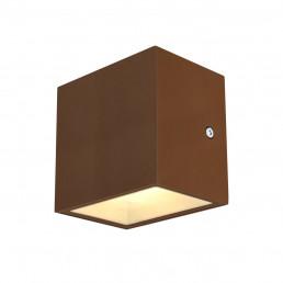SLV 1002034 sitra cube wandlamp roest 1xled 3000k