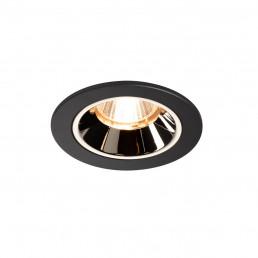 SLV 1003771 numinos dl s zwart/chroom 20gr kantelbaar 1xled 2700k