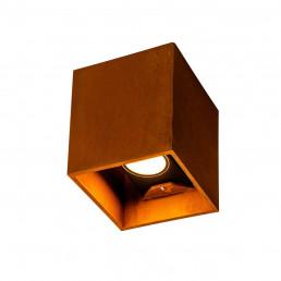 SLV 1004650 rusty up/down vierkant roest 2xled 3000/4000k cortenstaal wandlamp buiten