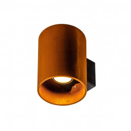 SLV 1004651 rusty up/down rond roest 2xled 3000/4000k cortenstaal wandlamp