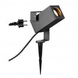 SLV 1004652 theo bracket spot antraciet 1xgu10 prikspot tuinverlichting