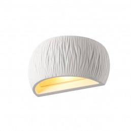 SLV 1004732 plastra wl curved curtain wit 1xqt-de12 wandlamp gips