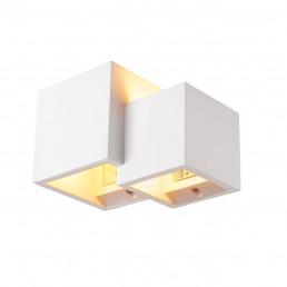 SLV 1004733 plastra wl cubes wit 1xqt14 wandlamp