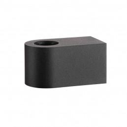SLV 1004738 fitu cube wl zwart 1xe27 wandlamp