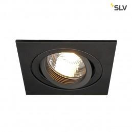 Actie SLV 111720 New Tria GU10 square zwart inbouwspot