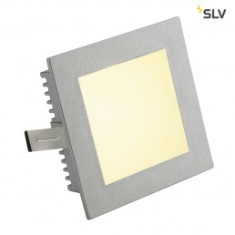 SLV 112732 Flat Frame Basic G4 zilvergrijs inbouwspot
