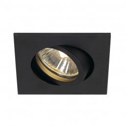SLV 113470 New Tria 68 GU10 square zwart inbouwspot