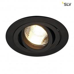 SLV 113480 New Tria MR16 round zwart inbouwspot