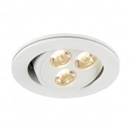SLV 113662 Triton wit 3 LED warmwit inbouwspot
