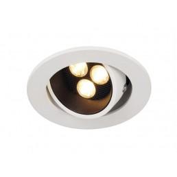 SLV 113771 Triton Horn 3 set zwart/wit led 30gr. inbouwspot