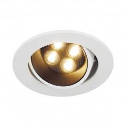SLV 113781 Triton Horn 4 set zwart/wit led 12gr. inbouwspot