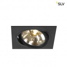 SLV 113800 New Tria 1 QRB 111 zwart inbouwspot