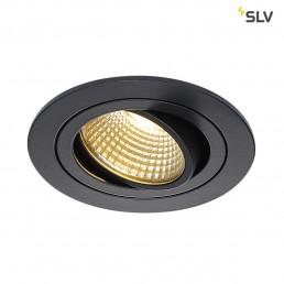113870 SLV New Tria DL Round, Set zwart led inbouwspot