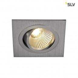 SLV 113916 New Tria DL Square, Set alu geborsteld led inbouwspot