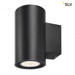 SLV 114140 supros zwart 2xled 3000k