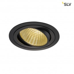 Actie SLV 114260 New Tria 1 Set Round zwart led inbouwspot 2700K