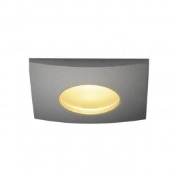 SLV 114474 Out 65 square hoogvolt LED zilvergrijs inbouwspot