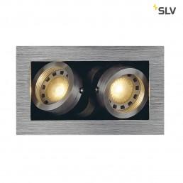 SLV 115526 Kadux 2 GU10 alu inbouwspot