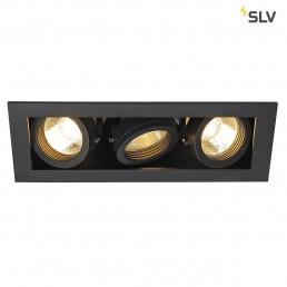 SLV 115530 Kadux 3 GU10 inbouwspot zwart