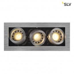SLV 115536 Kadux 3 GU10 alu inbouwspot